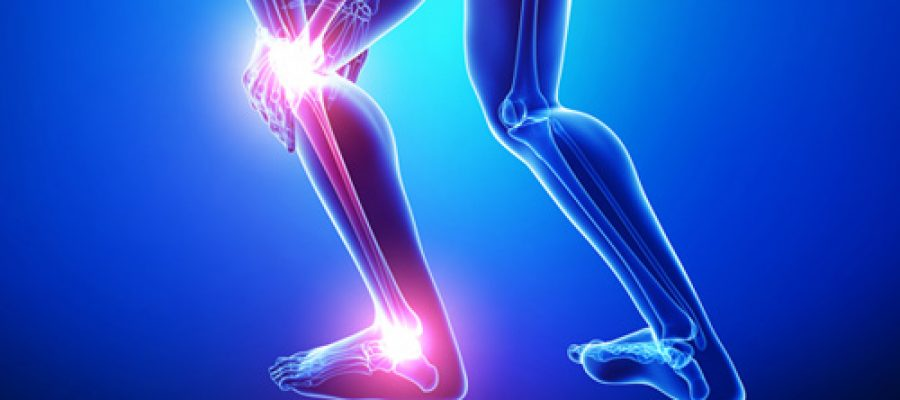 A Sprained Ankle and Knee Pain